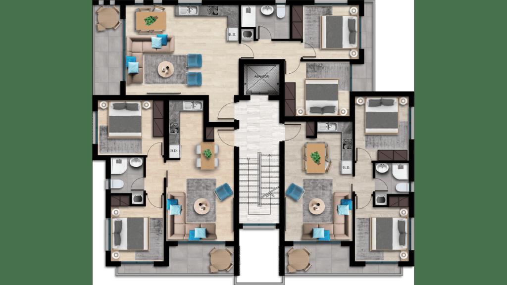 План этажа дома №29