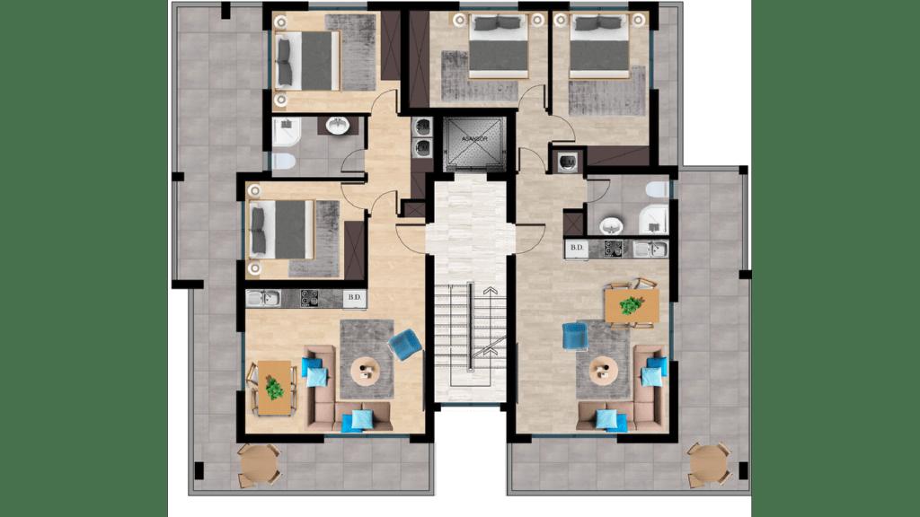 Планировка верхних этажей