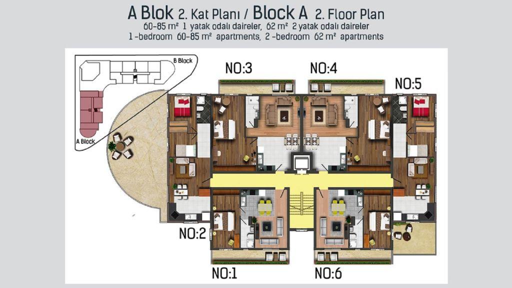 "План второго этажа блока ""А"""