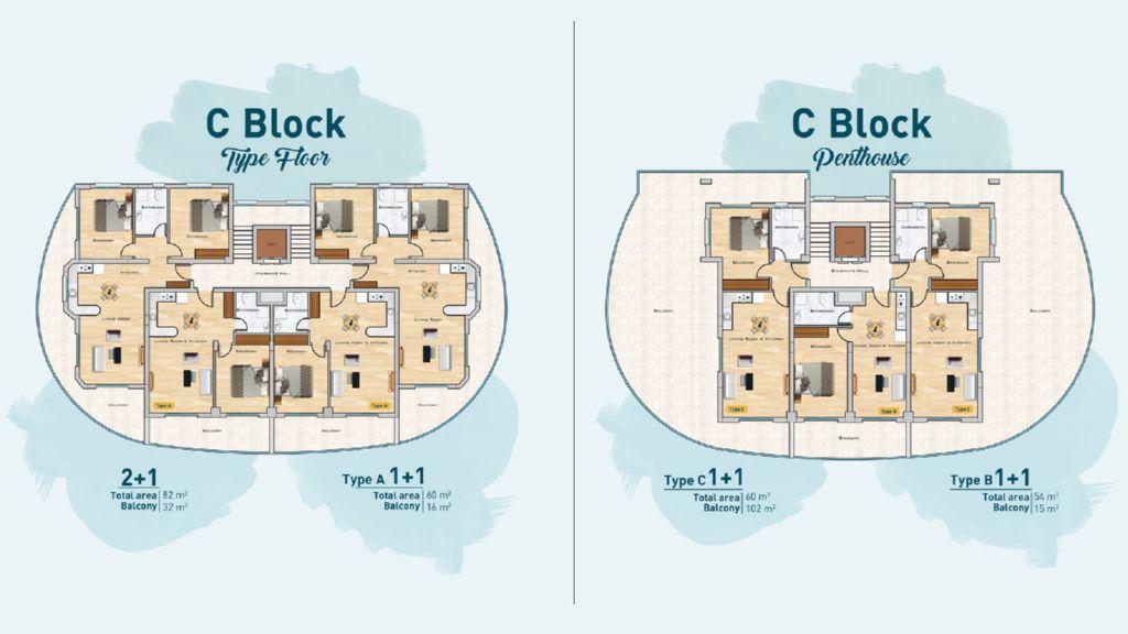 """Планировка этажей блока """"С"""""""