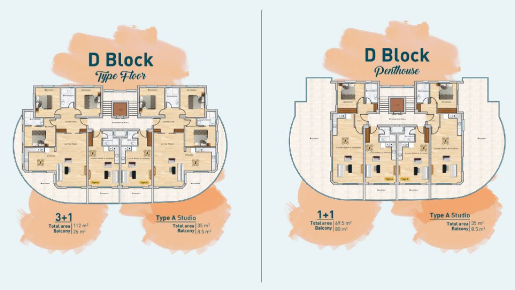 """Планировка этажей блока """"D"""""""