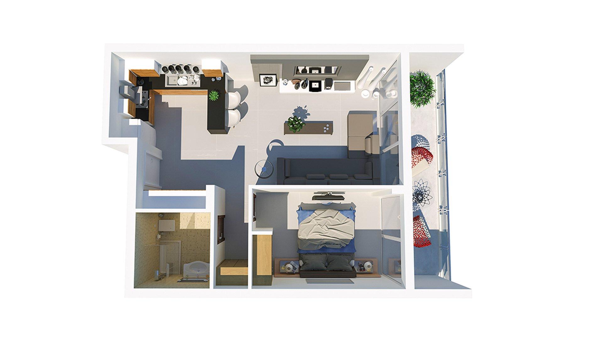 1+1 апартаменты