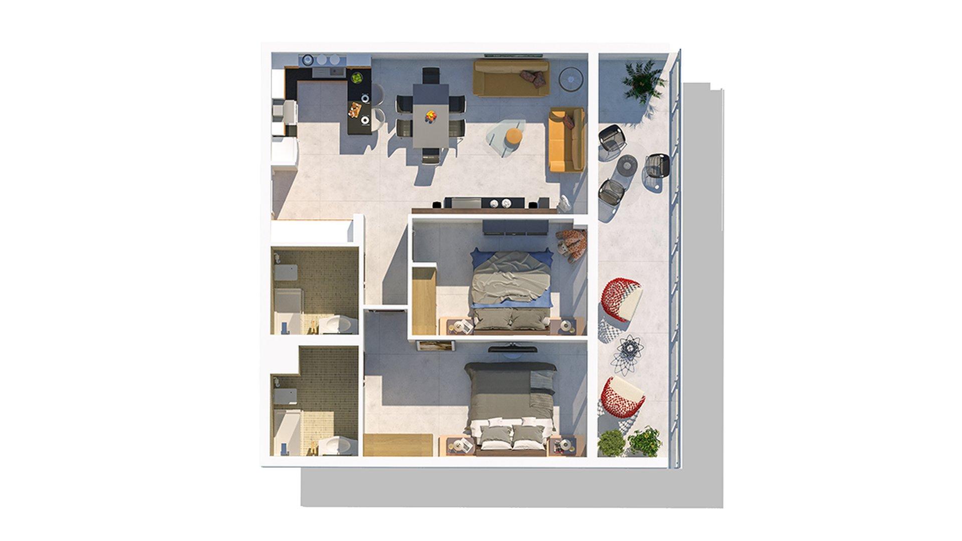 2+1 апартаменты