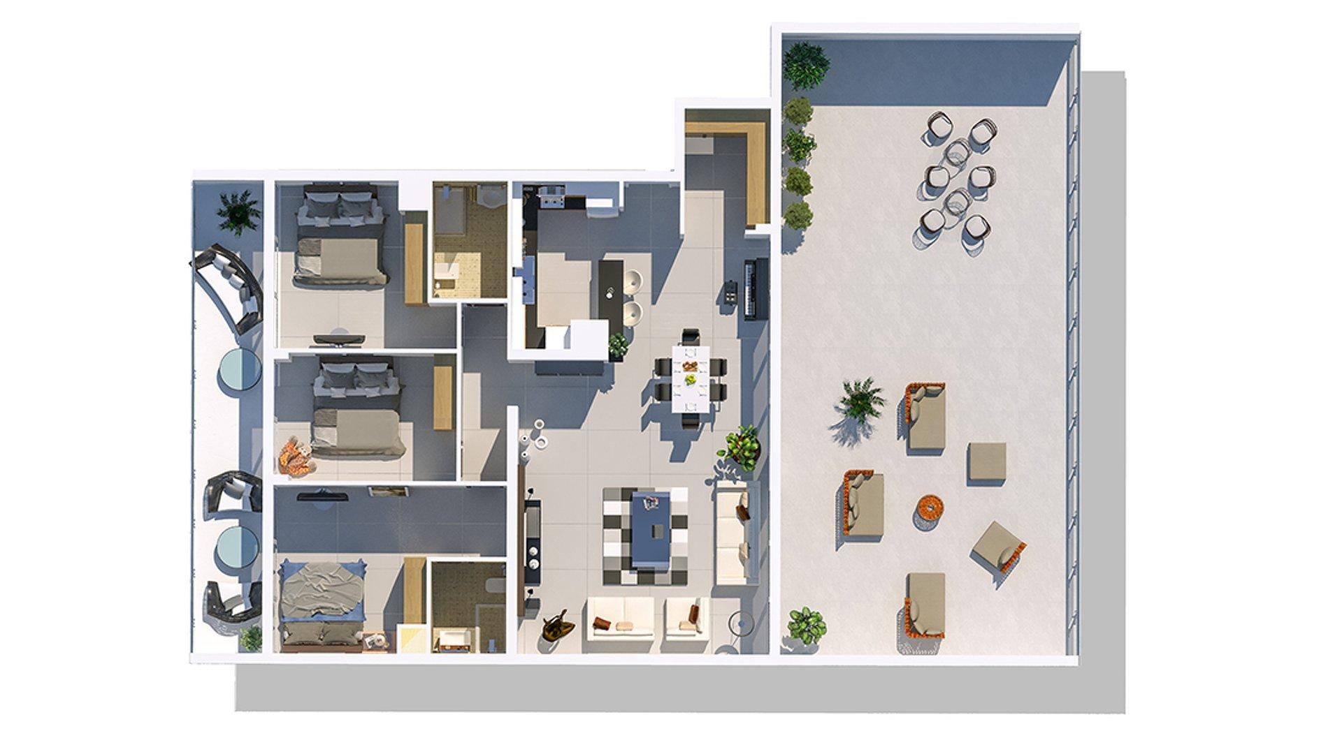 3+1 апартаменты