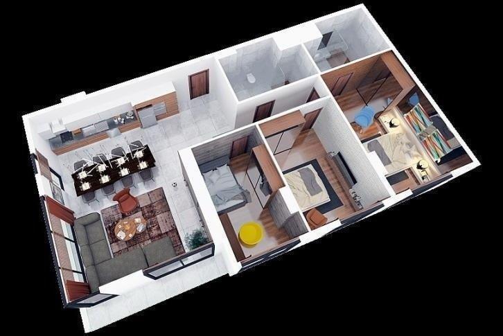 Квартира 3+1