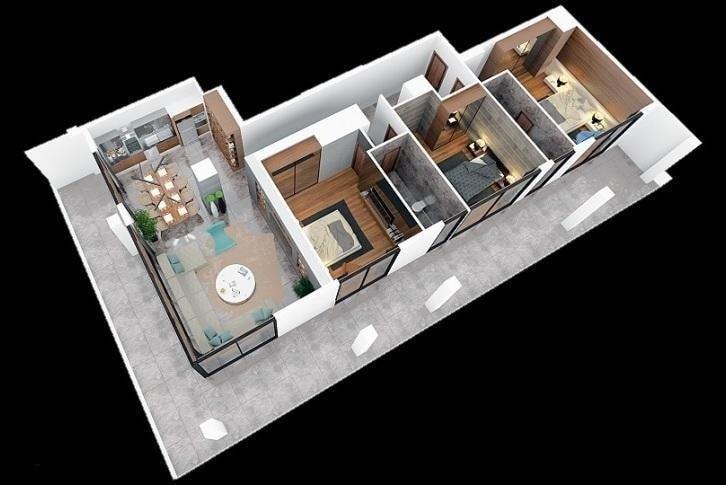 Квартира Пентхаус 3+1